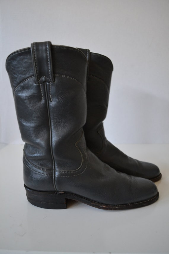 items similar to gray s justin roper boots 4 5 b on etsy