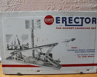 Vintage Erector No. 10201 - The Rocket Launcher Set