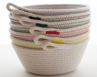 Natural rope basket, bowl -small steep