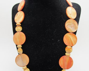 Earth toned Shell Necklace