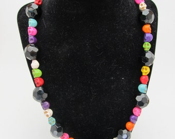 Magnesite Skull Necklace