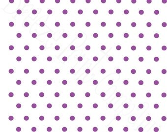 White with purple polka dots craft  vinyl sheet - HTV or Adhesive Vinyl -  polka dot pattern   HTV27