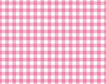 Pink Gingham  craft  vinyl sheet - HTV or Adhesive Vinyl -  medium pink and white pattern vinyl   HTV215