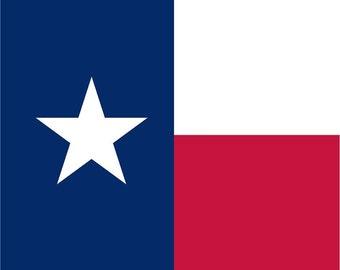Texas flag print craft  vinyl sheet - HTV or Adhesive Vinyl -    HTV143