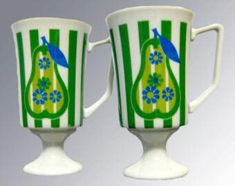 Mid Century Mug - Pear Mug Danish Modern - Vintage Kitchenware - Glamping Decor - MOD Kitchen