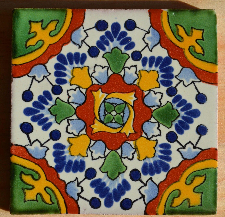 90 azulejos talavera pintadas a mano 4 x 4 for Azulejos de mexico