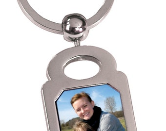 Personalized Square Photo Key Chain
