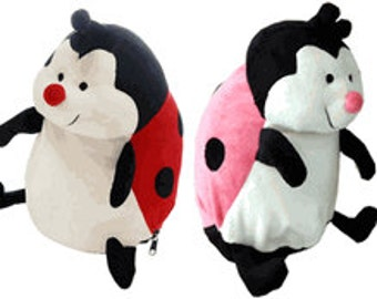Personalized Stuffed Animal-Lady Bug (Red or Pink)