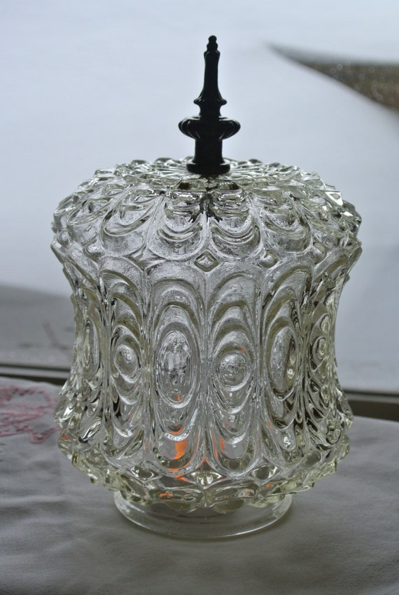 Cut Glass Lamp Shades 2 Antique Clear Glass