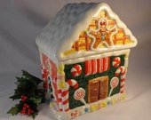 Cookie Jar Gingerbread House  World Bazaar
