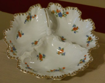 Vintage Victoria China Czechoslovakia Candy Dish