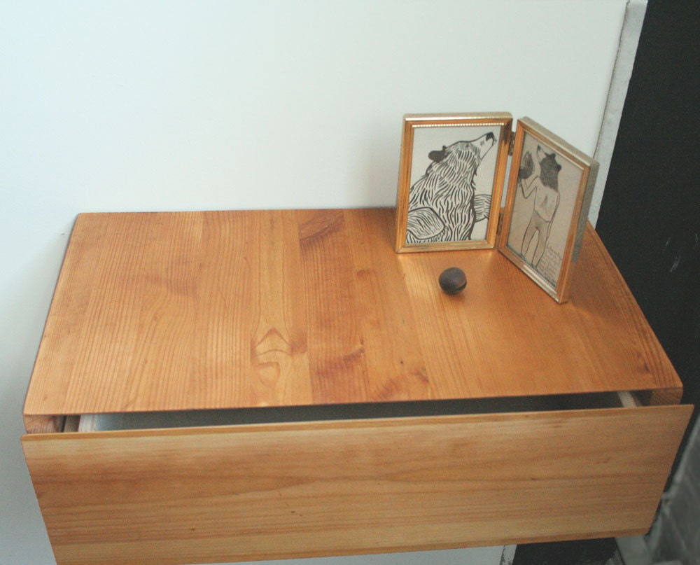 Floating Drawer Nightstand Storage Modular One of a