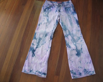 Women's Tie Dyed Purple and Pink  Jeans