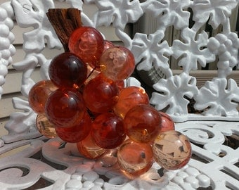 SALE Mid Century Large Acrylic/Lucite Pink Grapes