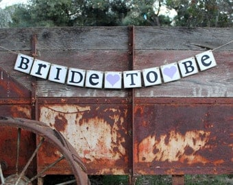 Wedding Shower Bridal Banner Bride To Be bridal shower banner ~ rustic ~ country bridal shower sign or decoration