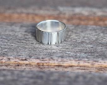 Tree Bark Sterling Silver Ring K003