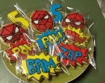 24 Mixed Super Hero cookie platter.