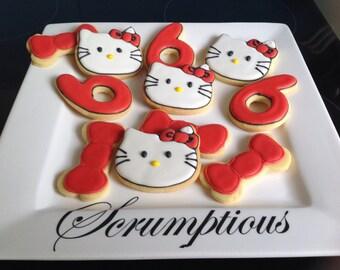 20 Hello Kitty cookies platter.