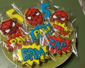 20 Spiderman Super Hero cookie platter.