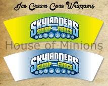 Skylanders Ice Cream Cone Wrapper