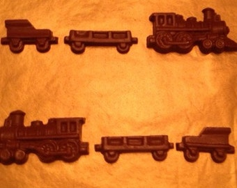 3 Sets of Chocolate Trains