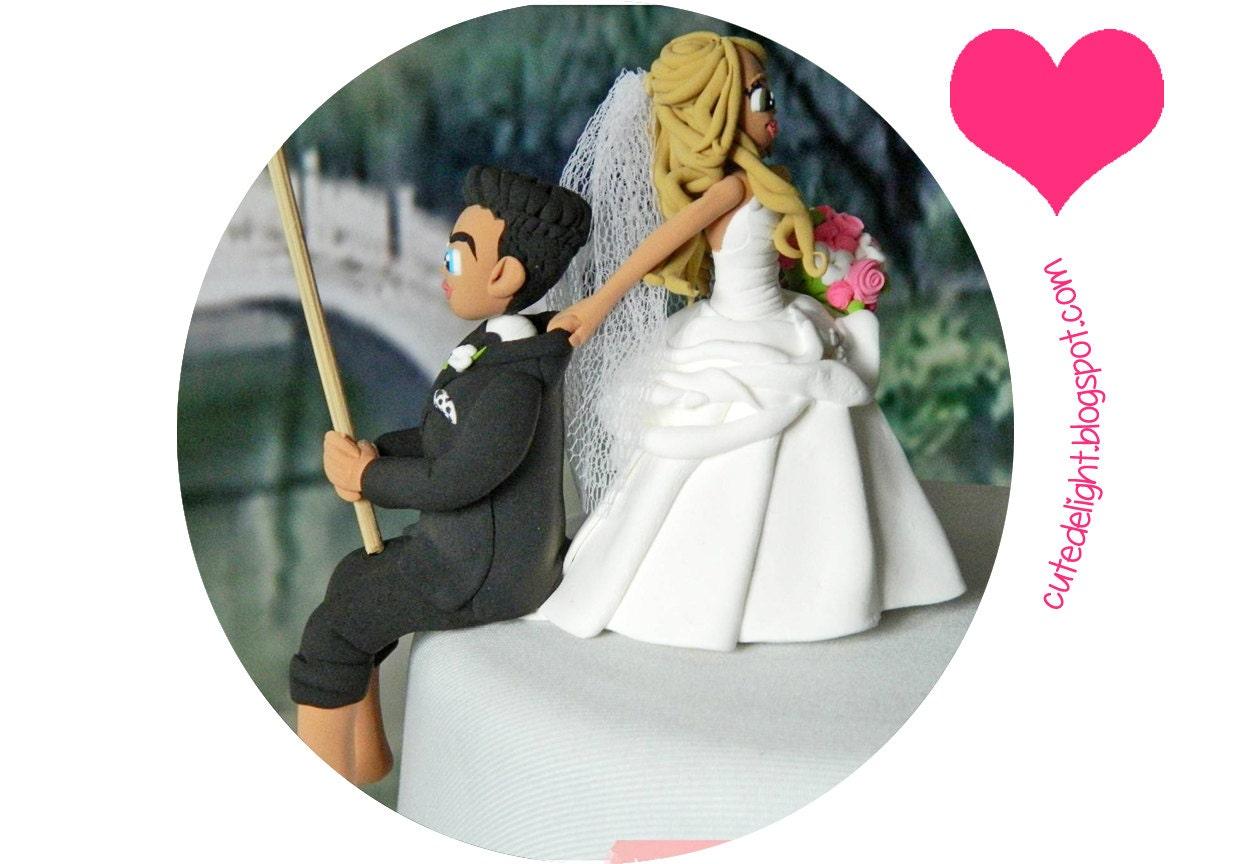 Fishing Cake Topper Wedding cake topper Fisherman