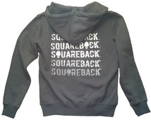Rock Climbing Snug Hoodie Crimp Squareback Charcoal Grey