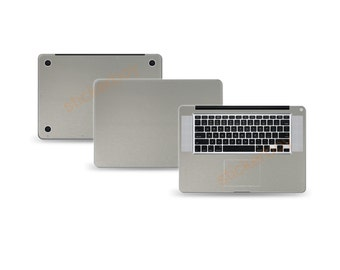 """Macbook Pro 15"""" 2nd Gen DECAL Sticker Skin Kit 3M Metal series by Stickerboy-Set 1"""