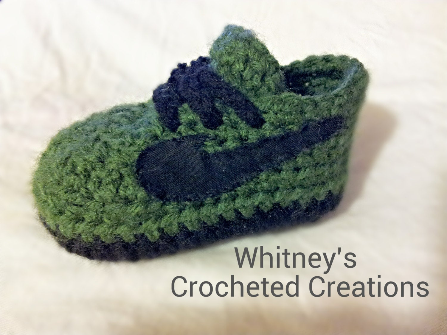 Crochet Patterns For Children s Shoes : Crochet Baby Nike Shoes Free Pattern