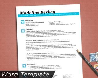 sale professionally designed resume template resume template word doc instant resume design