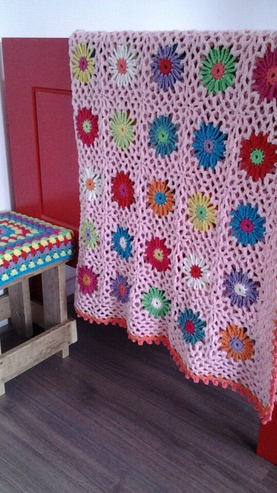 Pattern crochet flower blanket by GeHaaktdoorMarijtje on Etsy