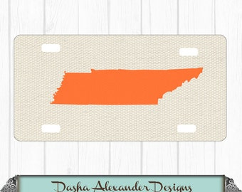 State License Plate Canvas Tennessee Car Tag - Any color - Any State - Personalized Car License Plate -  Sweet 16 Gift for Girl