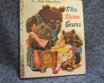 "Vintage ""The Three Bears"" Book, Copyright 1948,1976"