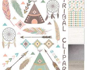 Tribal clipart and patterns feathers Teepee Tents arrows clipart Navaho clipart  sc 1 st  Etsy : indian teepee tents - memphite.com