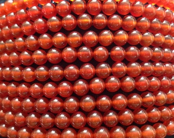 A Grade 6mm Carnelian Beads on String