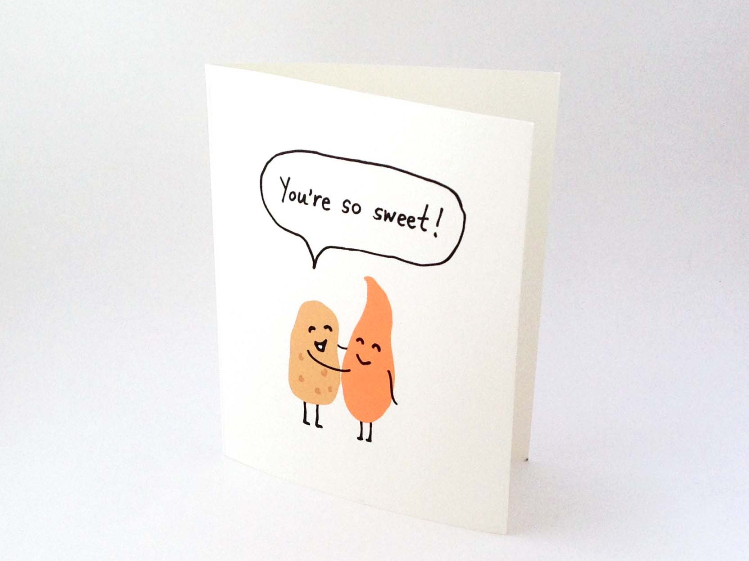Cute Love Card Anniversary Card Thank You Card Potato – Food Valentine Cards