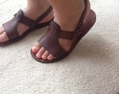 CUBIDO Kids :Children Leather Sandals 2 Straps ''T'' Bar Leather sandal custom size available