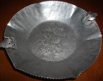 Peony Hammered Aluminum Plate
