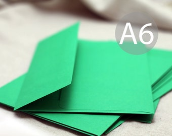 "A6 Bright Green Envelopes - 4x6 inch envelopes (true size 4 3/4"" x 6 1/2"") - Quantity 25"