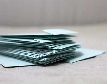 "Mini Mint Metallic Envelopes - Seed Packet Envelopes - Favor Envelopes - 2.25 x 3.75 inches (2 1/4"" x 3 3/4"") - Quantity 25"
