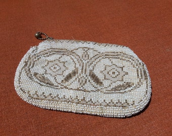 1930's  Micro Beaded Small Clutch Purse