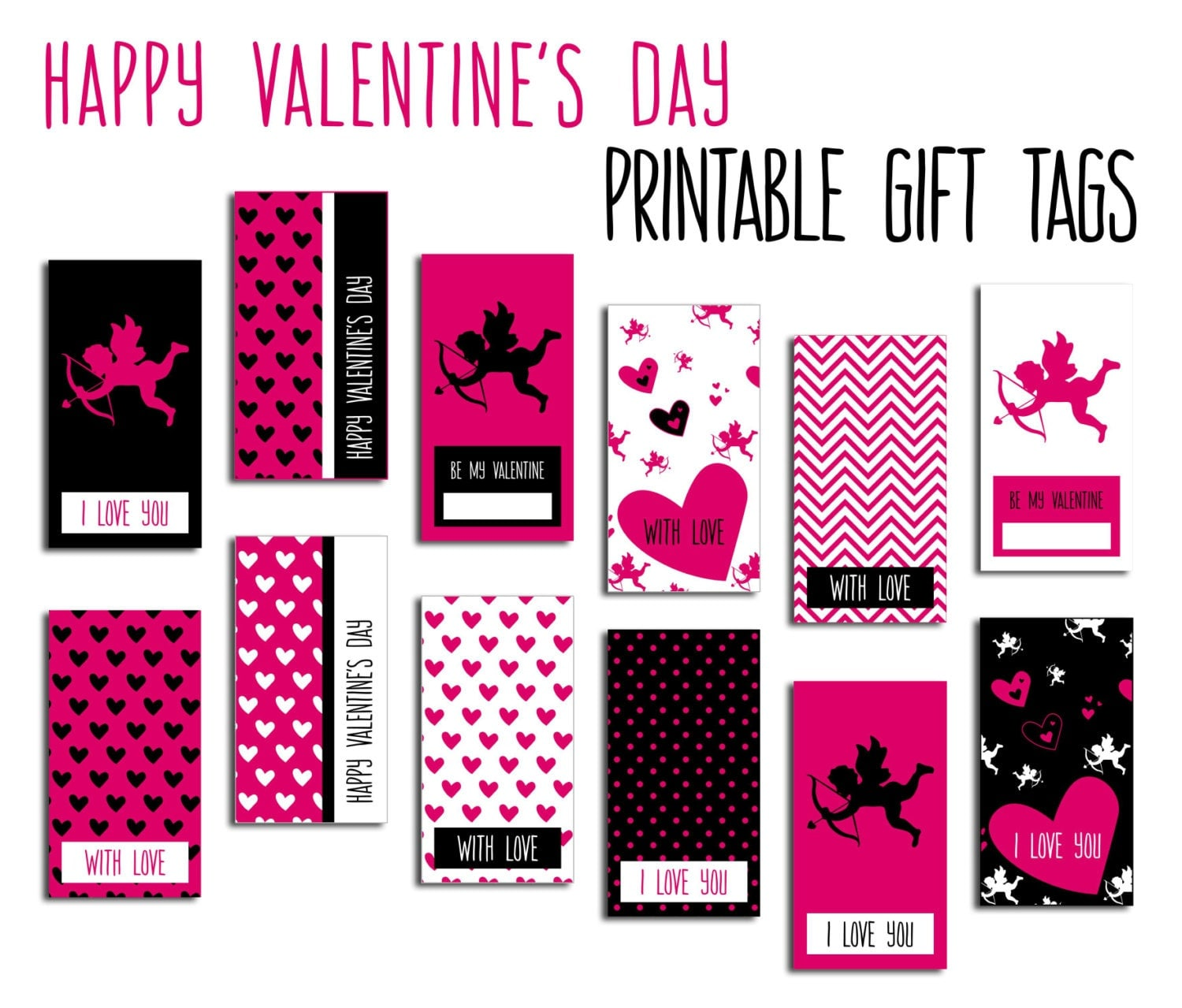 It's just a graphic of Playful Valentine Gift Tags Printable