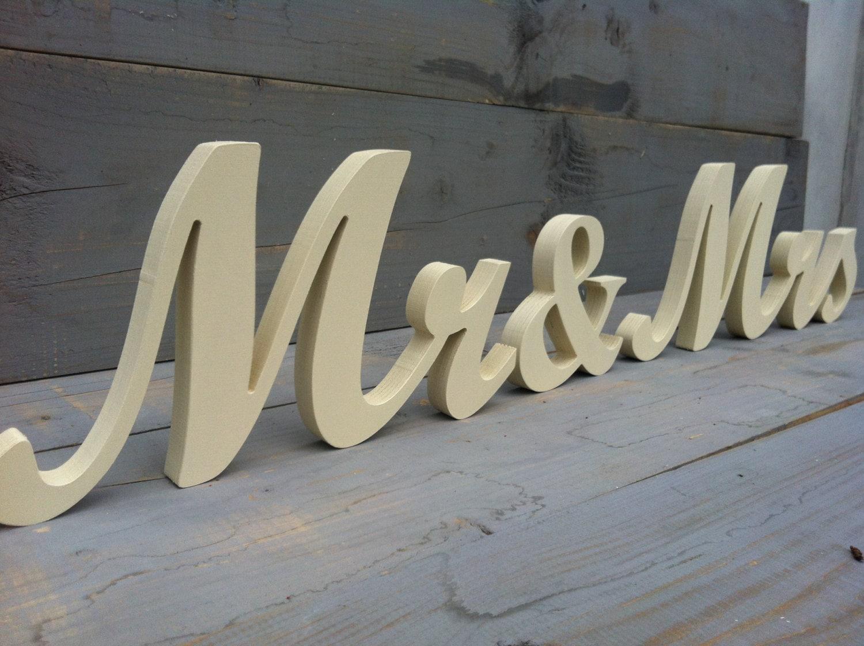 Mr&Mrs Wedding Wood Sign Wood Script. Custom Wooden Wedding