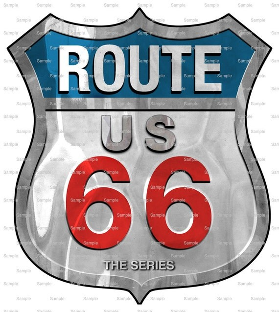 Route 66 Steel Sign Birthday - Edible Cake and Cupcake Topper For Birthday's and Parties! - D1674