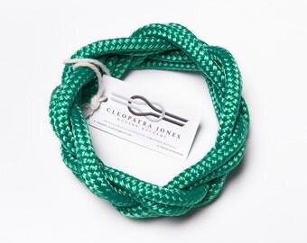 rope bracelet, macrame bracelet, infinity bracelet, wrap bracelet, rope bangle, green bracelet, macrame bangle, infinity bangle
