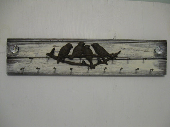 Rustic jewelry holder 24 inches long metal birds distressed for 13 20 paper jam check rear door