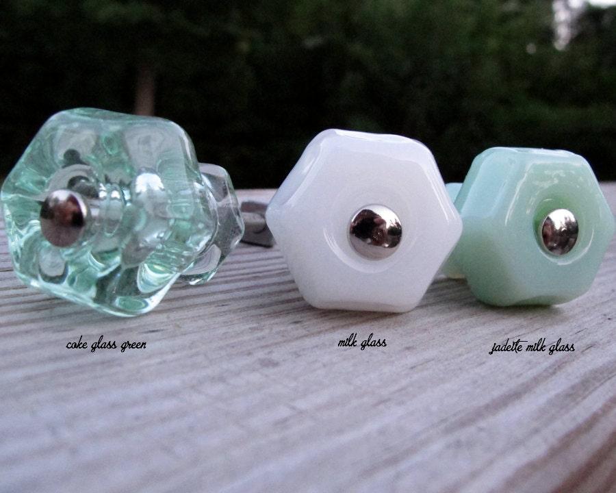 Light Green Jadeite Milk Glass Cabinet Or Drawer Knobs Beach