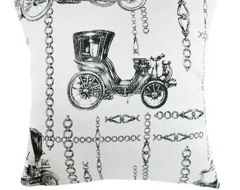 Antique Cars Cushion Cover - 38x38cm