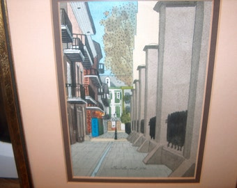 Vintage Print Framed, Marked Gail Bryant 1978, Picture, WAS 25.00 - 50% = 12.50