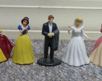Lot of 7 Vintage Disney Princess & Prince Figures, Snow White